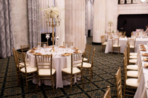 Ballroom Table and Chairs with Place Setting
