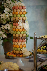 Macaron Tower with Multicolored Macarons