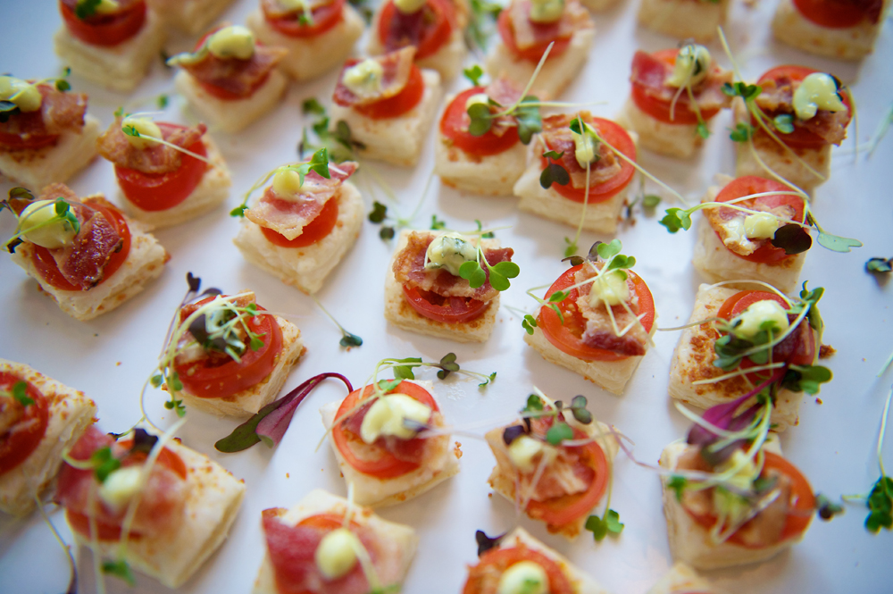 Closeup of Appetizer Sandwiches