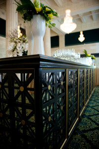 Detail of Black Patterned Bar