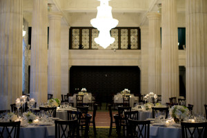 Marble Walls and Chandeliers at Ballroom at McKay in Grand Rapids