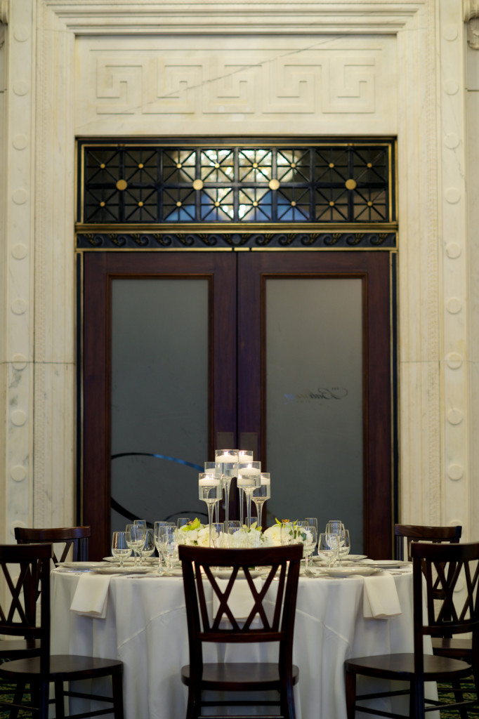 Ballroom at McKay Double Glass Doors with Detail Transom