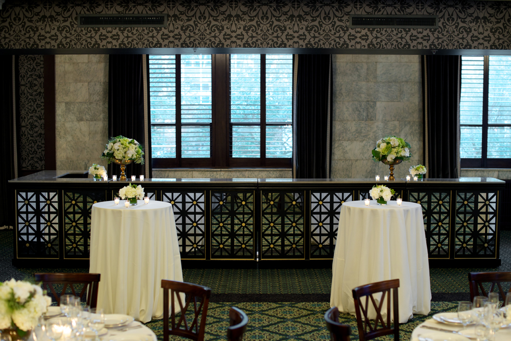 Bar Detail with Windows & High Top Tables