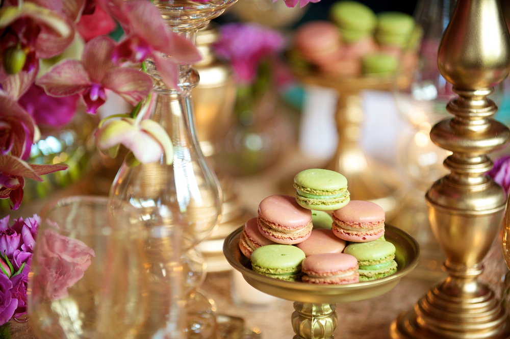 Green and Pink Macarons
