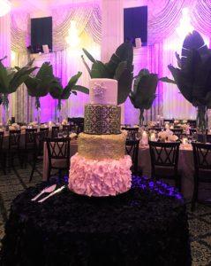 Wedding Cake Grand Rapids, Purple Backlit Cake